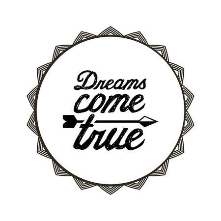 attitude phrase inside seal stamp over white background. vector illustration Illustration