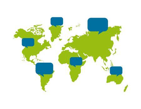 green world over white background. vector illustration