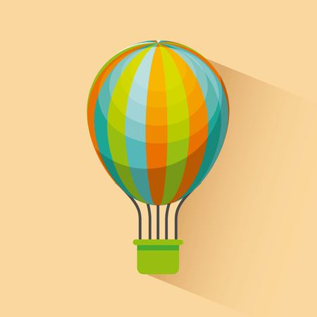 air balloon icon over yellow background. colorful design. vector illustration Ilustração