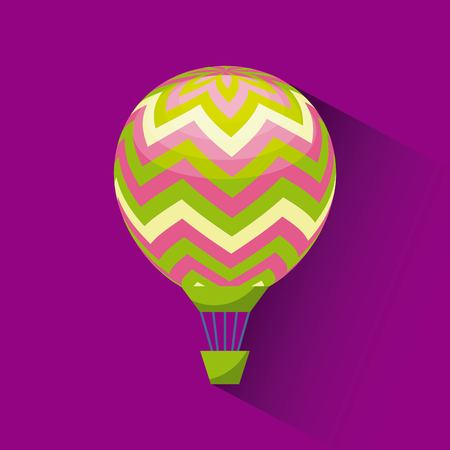 air balloon icon over purple background. colorful design. vector illustration Illustration