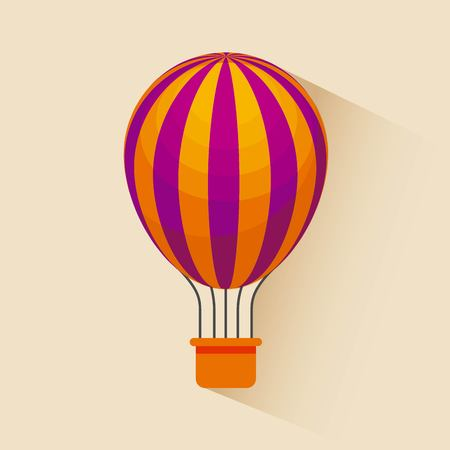 air balloon icon over yellow background. colorful design. vector illustration Ilustrace