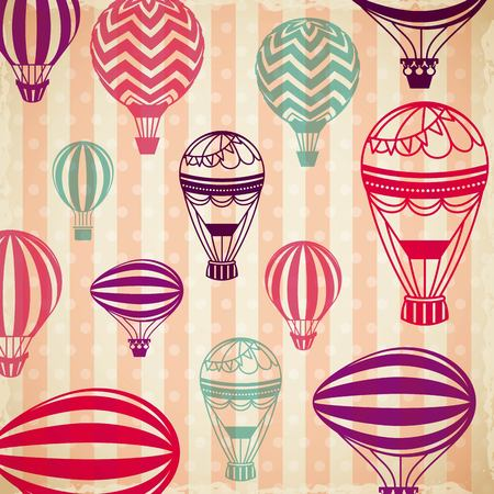 air balloons background. colorful design. vector illustration