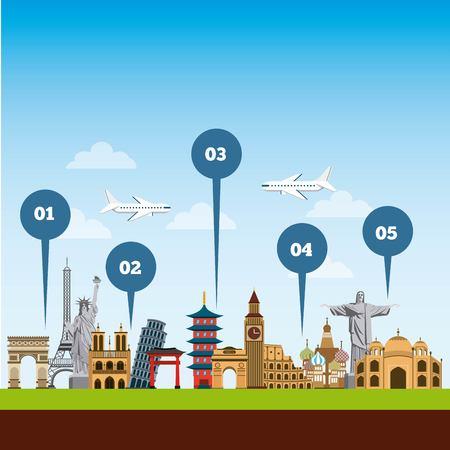 travel and tourism design. vector illustraiton vacation Illustration