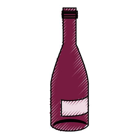 Botella de vino bebida icono de la ilustración vectorial diseño gráfico Foto de archivo - 76566549