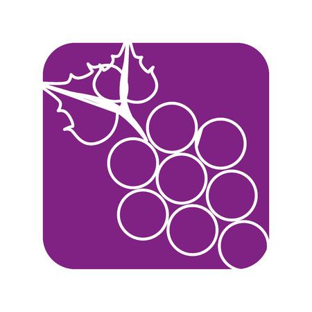 Diseño gráfico del ejemplo del vector del icono de la fruta de las uvas deliciosas Foto de archivo - 76566097