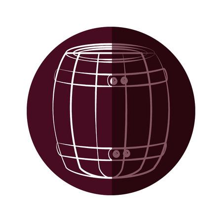 Wine wooden barrel icon vector illustration graphic design