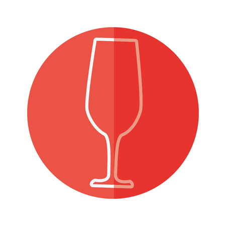 Delicious wine cup icon vector illustration graphic design
