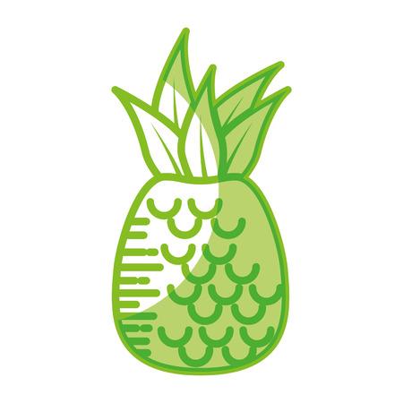 Delicious pineapple fruit icon vector illustration graphic design