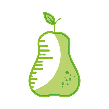Delicious pear fruit icon vector illustration graphic design