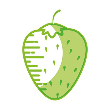 Strawberry delicious fruit icon vector illustration graphic design