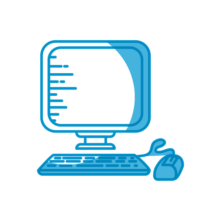 mouse: Desktop computer technology icon vector illustration graphic design Stock Photo