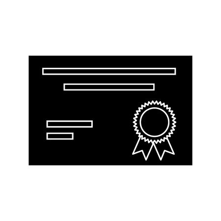 Diploma document certification icon vector illustration graphic design