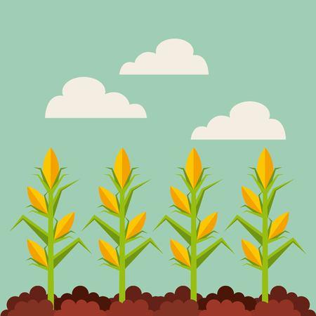 agriculture production landscape icon vector illustration design