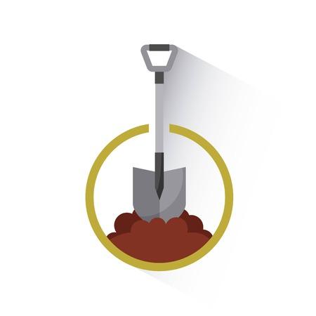 shovel tool isolated icon vector illustration design