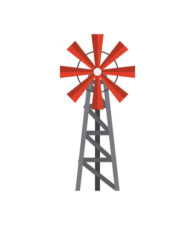 Windmill farm isolated icon vector illustration design Illusztráció