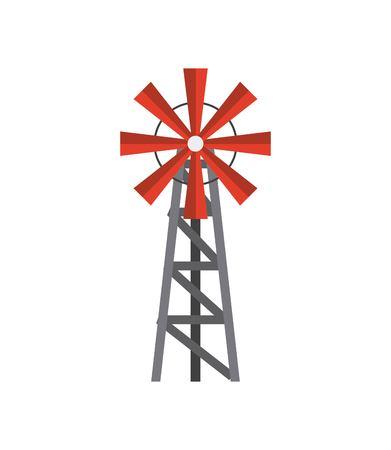 Windmolen boerderij geïsoleerd pictogram vector illustratie ontwerp