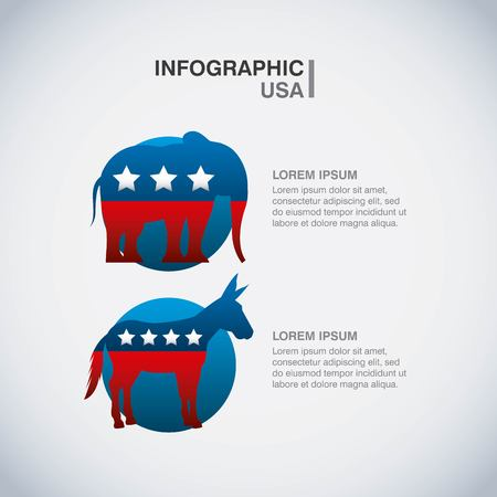 convention: USA political parties infograhic vector illustration design