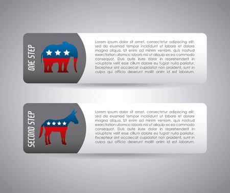 미국 정당 infograhic 벡터 일러스트 레이 션 디자인