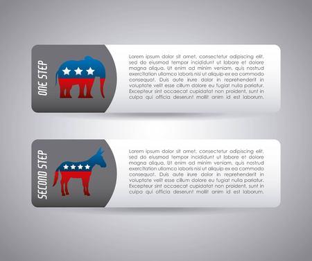 USA political parties infograhic vector illustration design