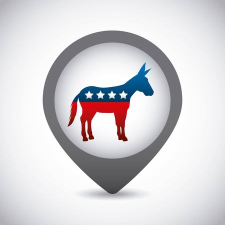 presidential: Democrat party usa isolated icon vector illustration design