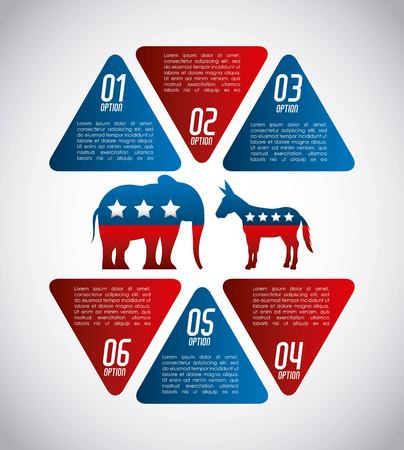 presidential: USA political parties infograhic vector illustration design