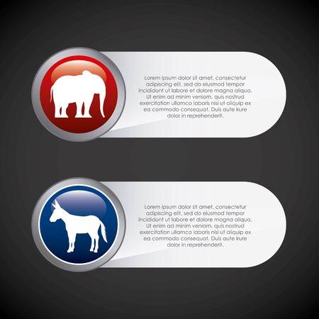 USA political parties infograhic vector illustration design Stock Vector - 76591407