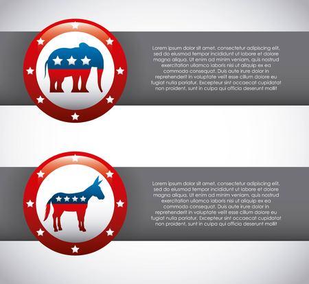congress center: USA political parties infograhic vector illustration design