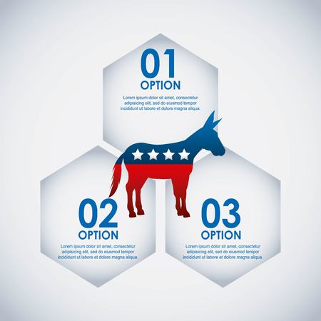 voted: democrat party usa isolated icon vector illustration design Illustration