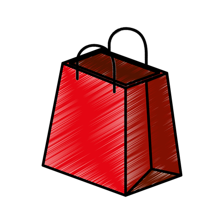 shopping bag isometric icon vector illustration design