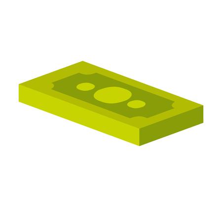 法案ドル アイソメ図のアイコン ベクトル イラスト デザイン