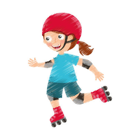 little skater avatar icon vector illustration design Reklamní fotografie - 76947420