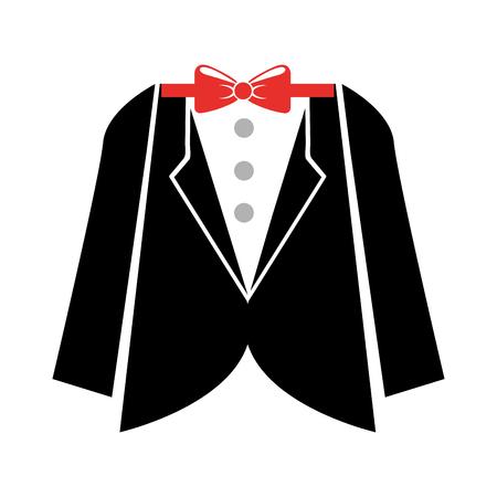 elegant masculine suit clothes icon vector illustration design
