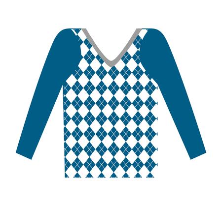 masculine sweater clothes icon vector illustration design Illusztráció