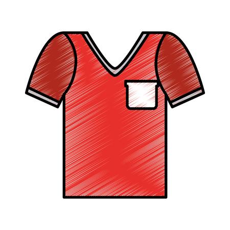 masculine shirt clothes icon vector illustration design Ilustrace