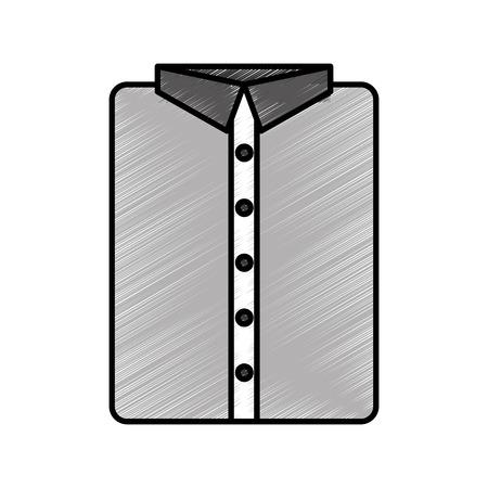 textil: masculine shirt clothes icon vector illustration design Illustration