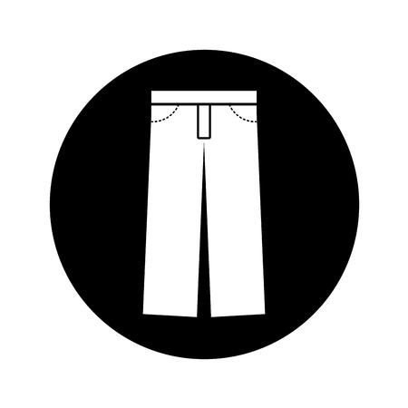 textil: masculine pants clothes icon vector illustration design