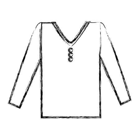 masculine shirt clothes icon vector illustration design Illusztráció
