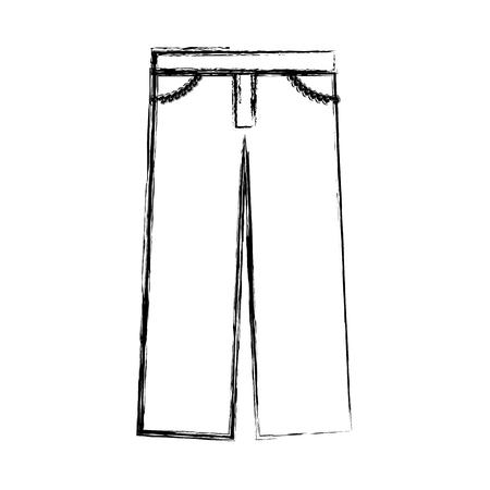 masculine pants clothes icon vector illustration design