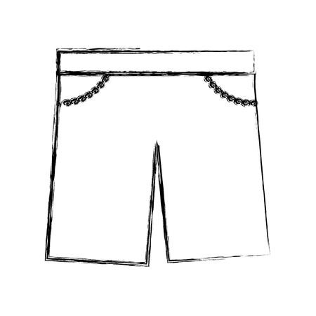 textil: masculine short clothes icon vector illustration design