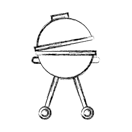roasted: grill silhouette isolated icon vector illustration design Illustration