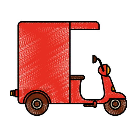 motorcycle delivery vehicle icon vector illustration design Illustration
