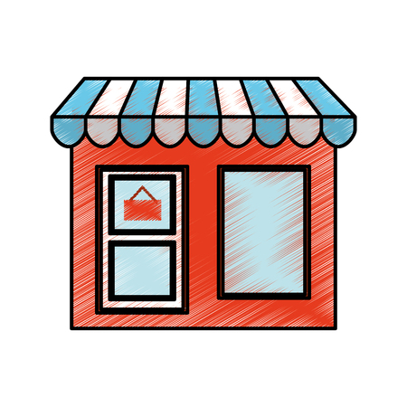 store building front isolated icon vector illustration design