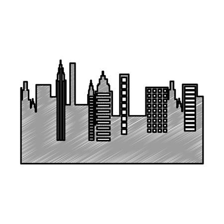 cityscape skyline isolated icon vector illustration design