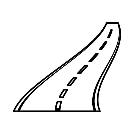 Straight road isolated icon vector illustration design Illustration