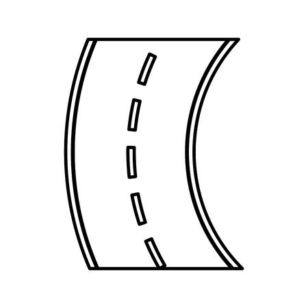 curve road isolated icon vector illustration design Ilustração