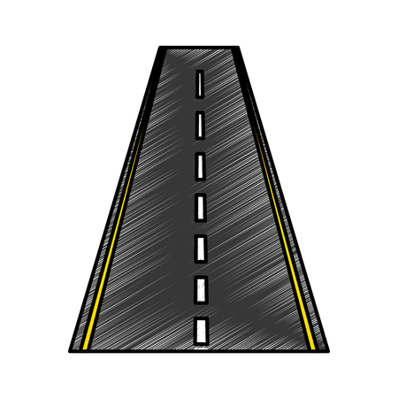 Straight road isolated icon vector illustration design Illustration