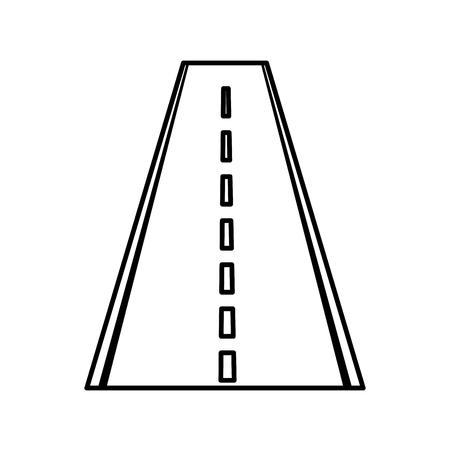 Straight road isolated icon vector illustration design Ilustrace