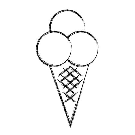 おいしいアイス クリーム分離アイコン ベクトル イラスト デザイン  イラスト・ベクター素材