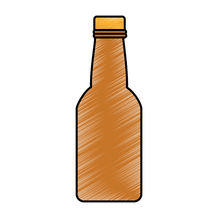 fresh beer in bottle isolated icon vector illustration design