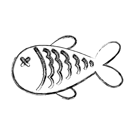 simple store: fish nutritive food isolated icon vector illustration design Illustration